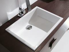 - Inset rectangular washbasin RIGA | Inset washbasin - Edoné by Agorà Group
