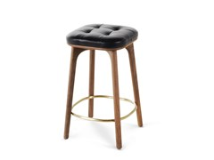 - High wooden barstool with footrest UTILITY STOOL H610 - STELLAR WORKS