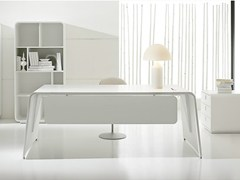- Lacquered rectangular executive desk SESTANTE | Lacquered office desk - IFT