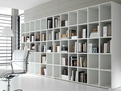 - Open freestanding lacquered office shelving PRATIKO | Lacquered office shelving - IFT