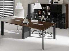 - Rectangular steel and wood meeting table PRATIKO | Meeting table - IFT