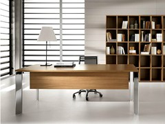 - Rectangular steel and wood executive desk PRATIKO | Office desk - IFT