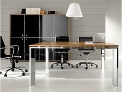 - Square steel and wood meeting table PRATIKO | Square meeting table - IFT