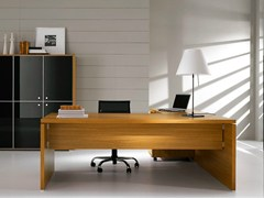 - L-shaped melamine-faced chipboard executive desk PRATIKO | L-shaped office desk - IFT