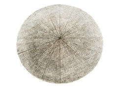 - Solid-color round rug SW RUGS LITHA #3 - STELLAR WORKS