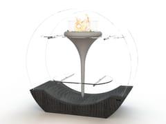 - Freestanding bioethanol glass-fibre fireplace O - FLUT II - GlammFire