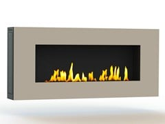 - Bioethanol wall-mounted lacquered steel fireplace APOLLO III CREA7ION - GlammFire