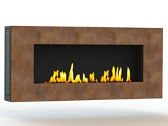 - Bioethanol wall-mounted Corten™ fireplace APOLLO I CREA7ION - GlammFire