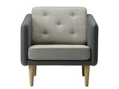 - Upholstered fabric armchair with armrests NO 1 | Armchair - FREDERICIA FURNITURE