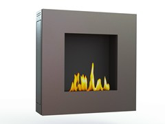 - Bioethanol wall-mounted brushed stainless steel fireplace LOTUS III CREA7ION - GlammFire