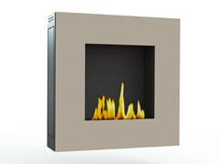 - Bioethanol wall-mounted lacquered steel fireplace LOTUS IV CREA7ION - GlammFire