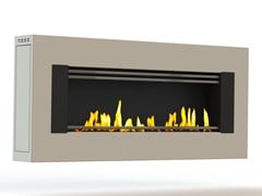 - Bioethanol wall-mounted lacquered steel fireplace MITO GENESIS I CREA7ION - GlammFire