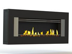 - Bioethanol wall-mounted brushed stainless steel fireplace MITO GENESIS II CREA7ION - GlammFire