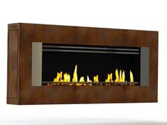 - Bioethanol wall-mounted Corten™ fireplace MITO GENESIS III CREA7ION - GlammFire