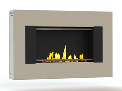 - Bioethanol wall-mounted lacquered steel fireplace MITO SMALL GENESIS I CREA7ION - GlammFire