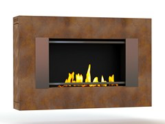 - Bioethanol wall-mounted Corten™ fireplace MITO SMALL GENESIS III CREA7ION - GlammFire