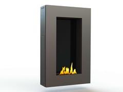 - Bioethanol wall-mounted brushed stainless steel fireplace TANGO II CREA7ION - GlammFire