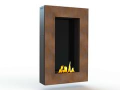 - Bioethanol wall-mounted Corten™ fireplace TANGO IV CREA7ION - GlammFire
