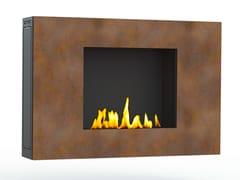 - Bioethanol wall-mounted Corten™ fireplace ZEN III CREA7ION - GlammFire