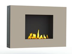 - Contemporary style bioethanol wall-mounted steel fireplace with remote control ZEN II CREA7ION - GlammFire