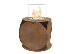 - Bioethanol freestanding Corten™ fireplace LIRA | Corten™ fireplace - GlammFire