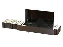 - Activated charcoal stainless steel barbecue LA BOHÈME II - GlammFire
