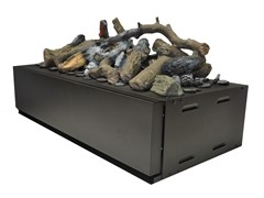 - Electric built-in fireplace with remote control KIT GLAMM 3D L - GlammFire