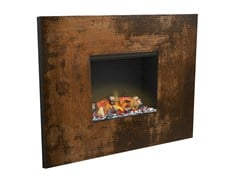 - Built-in Corten™ fireplace with remote control SENSES III 3D - GlammFire