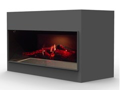 - Electric freestanding fireplace with remote control KIT OPTI - V SINGLE - GlammFire