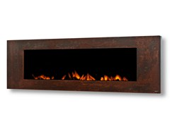 - Electric wall-mounted Corten™ fireplace GL 1700 - GlammFire