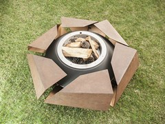- Corten™ barbecue / fire baskets STRAVAGANZA - GlammFire