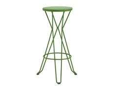 - High galvanized steel barstool with footrest MADRID - iSimar