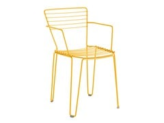 - Galvanized steel garden chair with armrests MENORCA | Chair with armrests - iSimar