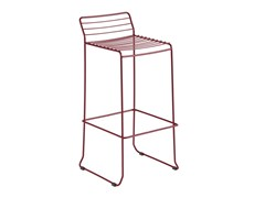 - Sled base galvanized steel counter stool with footrest TARIFA | Counter stool - iSimar