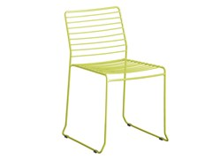 - Sled base galvanized steel garden chair TARIFA | Chair - iSimar