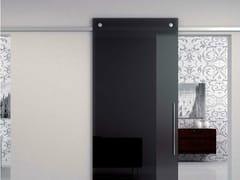 - Metal sliding door track Minimal Quadro V-6400 - Metalglas Bonomi