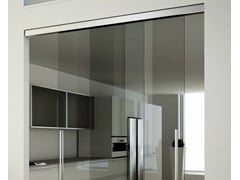 - Metal sliding door track Invisibile 2-ways visible V-7200 - Metalglas Bonomi