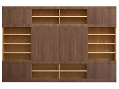 - Sectional wooden bookcase MASCHERA SCORREVOLE | Bookcase - Morelato