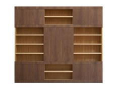 - Sectional wooden bookcase MASCHERA SCORREVOLE | Wooden bookcase - Morelato