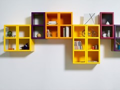 - Sectional lacquered floating bookcase BOOK | Floating bookcase - IFT