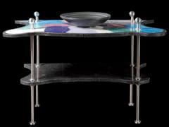 - Single natural stone console sink FLOWERS | Console sink - DANILO RAMAZZOTTI ITALIAN HOUSE FLOOR