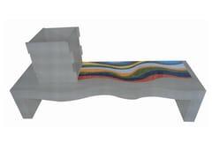 - Natural stone washbasin with integrated countertop VOLUMI | Washbasin - DANILO RAMAZZOTTI ITALIAN HOUSE FLOOR