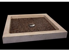 - Square natural stone and coconut shower tray BORA BORA | Shower tray - DANILO RAMAZZOTTI ITALIAN HOUSE FLOOR