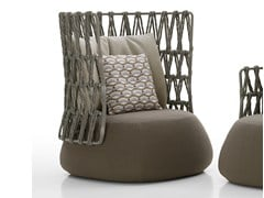 - Upholstered high-back garden armchair FAT-SOFA OUTDOOR | High-back armchair - B&B Italia Outdoor, a brand of B&B Italia Spa