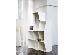 - Freestanding lacquered modular bookcase TOTEM | Bookcase - Design by nico