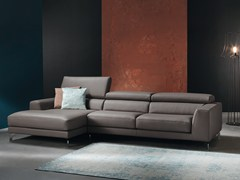 - Sofa with chaise longue with electric motion ARENA - Divanidea