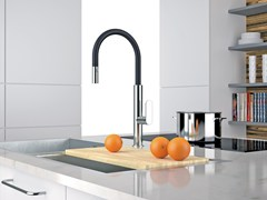 - Countertop kitchen mixer tap with pull out spray NK 73 N | Kitchen mixer tap - Remer Rubinetterie
