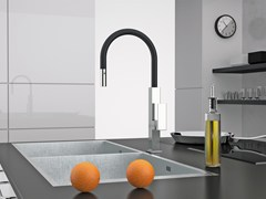 - Countertop kitchen mixer tap with pull out spray QK 73 N | Kitchen mixer tap - Remer Rubinetterie
