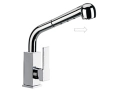 - Chromed brass kitchen mixer tap with pull out spray Q 83 A | Kitchen mixer tap - Remer Rubinetterie