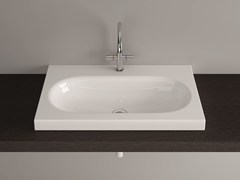 - Countertop rectangular enamelled steel washbasin BETTECOMODO | Countertop washbasin - Bette
